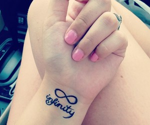 infinity, pink, and nails image