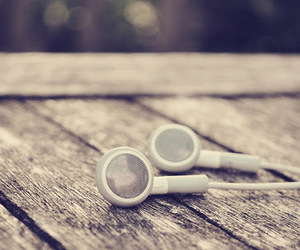 music, earphones, and headphones image