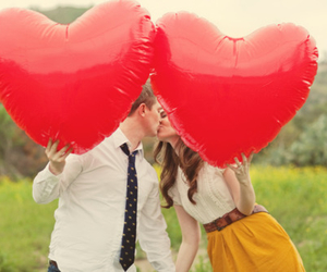 couple, heart, and kiss image