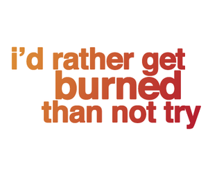 burned and quote image