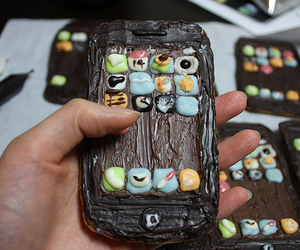 iphone and chocolate image