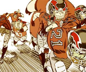 anime, football, and manga image