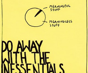 meaningful, minimalism, and post-it note image