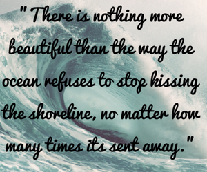 quotes, beach, and love image
