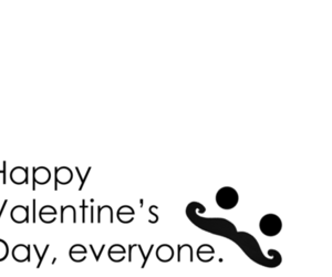 happy, mustache, and valentines image