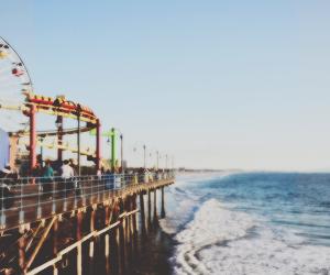 beach, beautiful, and funfair image