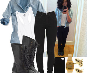 outfit, girl, and shoes image