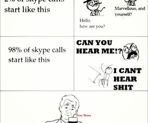 skype, funny, and true image