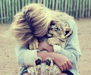 cuddle and tiger image
