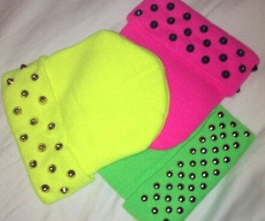 hat, hats, and neon colors image