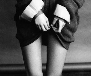 skinny, legs, and black and white image