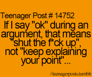 ok, argument, and quote image