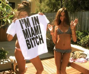 girl, bitch, and Miami image
