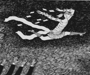 1920s, edward gorey, and hands image