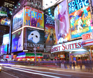 new york, broadway, and times square image