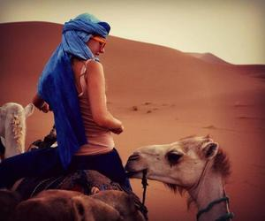 arabic, camel, and girl image