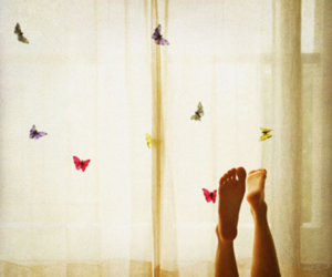 butterfly and feet image