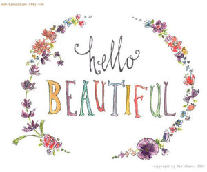 flowers, beautiful, and hello image