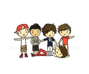 one direction and overlay image