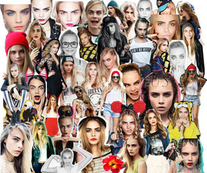 model, beauty, and Collage image