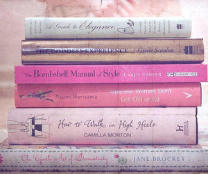 book, pink, and vintage image