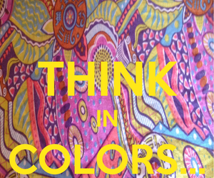 color, text, and think image