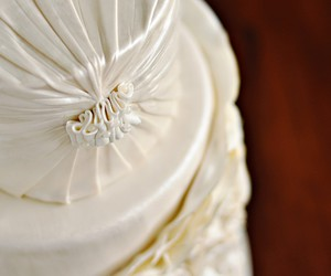 white, cake, and wedding image