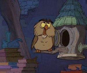 archimedes, disney, and owl image