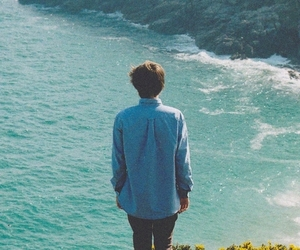 boy, sea, and nature image