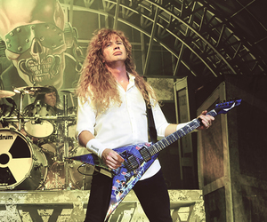 dave mustaine, guitar, and long hair image