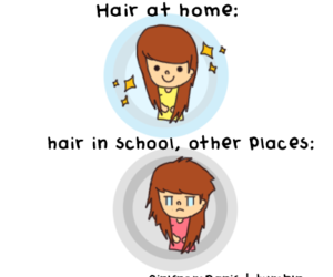 funny, girl, and hair image