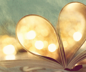 book, love, and heart image