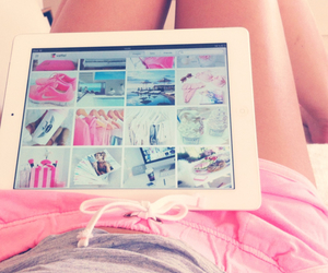 pink, ipad, and weheartit image