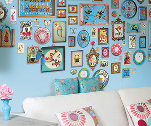 home, decor, and blue image