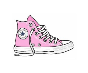 converse, pink, and overlay image