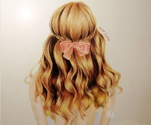 adorable, blonde, and drawing image