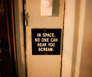 scream, space, and text image