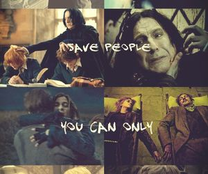 harry potter, george weasley, and severus snape image