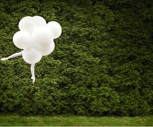 balloons, ballet, and white image