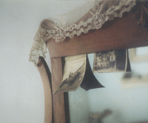 mirror, vintage, and lace image