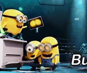 minions, funny, and butt image