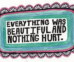 quote, beautiful, and hurt image