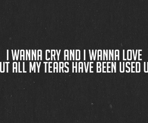 love, tears, and cry image