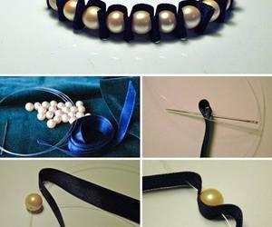 bracelet, diy, and pearls image