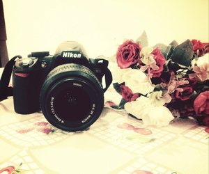 camera, Dream, and flowers image