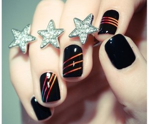 <3, nails, and cute image