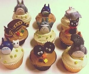 totoro, anime, and cupcakes image