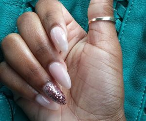 nails, pink, and pointed image