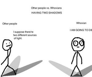 doctor who, whovian, and shadows image
