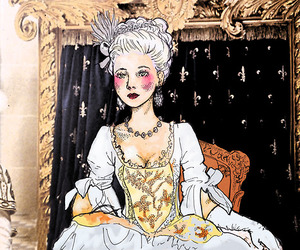 marie antoinette, draw, and vintage image